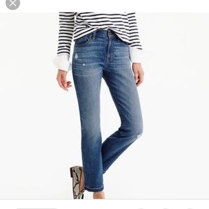 J crew vintage crop jeans in rhodes wash